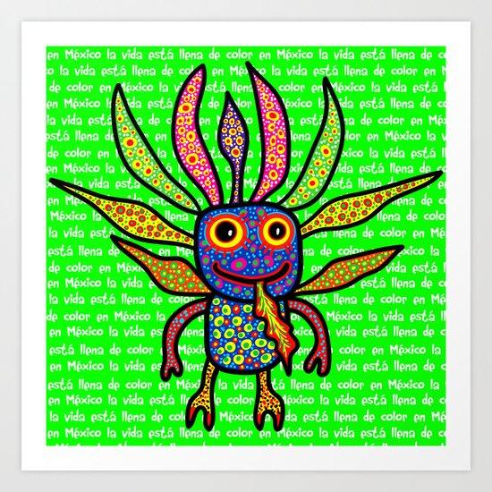 Mexicanitos al grito - Alexbrijin Art Print