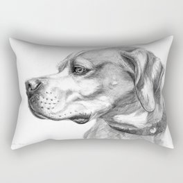 Pointer Dog Portrait G037 Rectangular Pillow