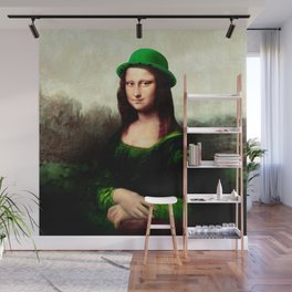 Lucky Mona Lisa - St Patrick's Day Wall Mural