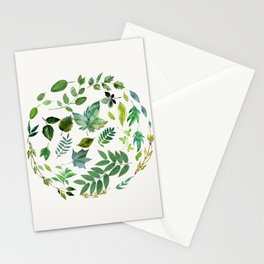 Circle of Leaves Stationery Cards