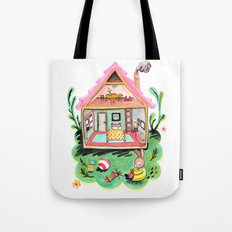 Rebecca Rabbit, Her House, and Her Belongings Tote Bag