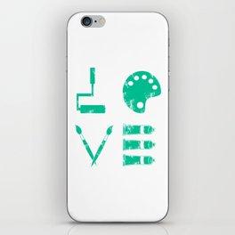 Artist Painter Art Teacher Designer Love Art Tools Gift iPhone Skin