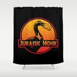 Jurassic Honk Goose, Meme, Gander Dinosaur Honk | Annoying Geese Shower Curtain