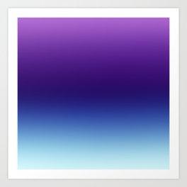 Purple and Blue Gradient Ombre Art Print
