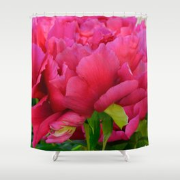 Dark Pink Tree Peony by Teresa Thompson Shower Curtain