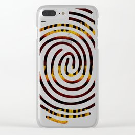 Fingerprint Piano Music Lover Clear iPhone Case