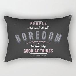 Boredom Rectangular Pillow