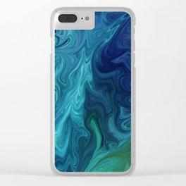 Jupiter's Ocean Dream Clear iPhone Case