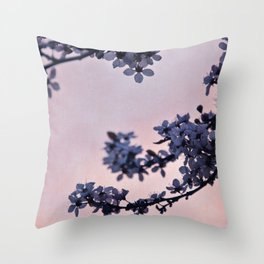 blossoms at dusk Throw Pillow