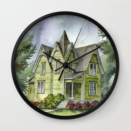 The Green Clapboard House Wall Clock