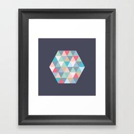 hexagon Framed Art Print