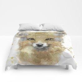 Golden Forest Fox Comforters