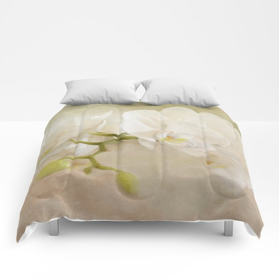 White Orchids Comforters