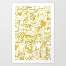 Golden Doodle squares Art Print