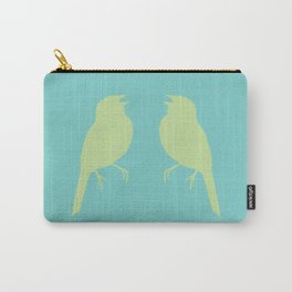 facing song sparrows (color) Carry-All Pouch