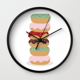 Mountain of Donuts in my Dream Wall Clock