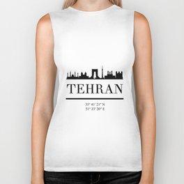 TEHRAN IRAN BLACK SILHOUETTE SKYLINE ART Biker Tank
