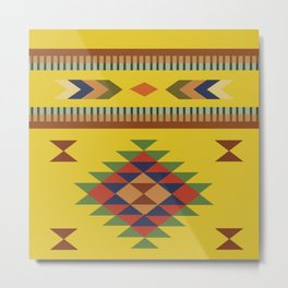 American Native Pattern No. 176 Metal Print