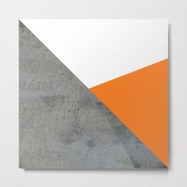 Concrete Tangerine White Metal Print