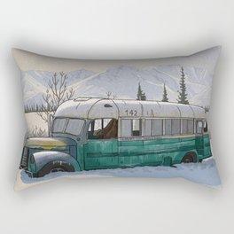 Into the Wild Fairbanks Bus Rectangular Pillow