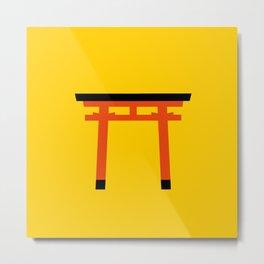 Torii (鳥居) (eastern portal) Metal Print