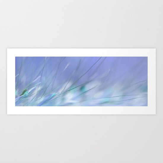 Blue Grasses Art Print