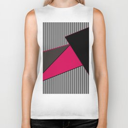 An abstract geometric pattern . Tango Biker Tank