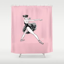 Black swan CoolNoodle Shower Curtain