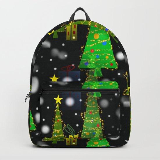 Christmas Snow Fall Backpack