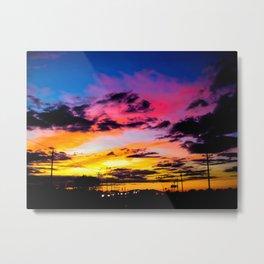 Sunset on Hwy 380 Metal Print