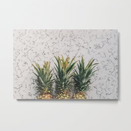 Pineapple Luxe Metal Print