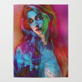 Galaxy Grunge Poster