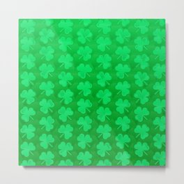 St. Patrick's Day Clovers Metal Print
