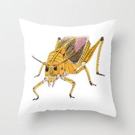 Grasshopper Cubed Throw Pillow