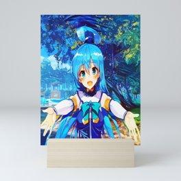 cyan aqua Mini Art Print
