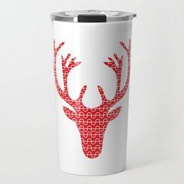 Red deer head Travel Mug