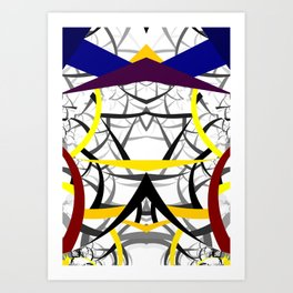 geometric architecture Art Print