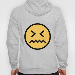 Smiley Face   Squeezing Look   Annoyed Face Hoody