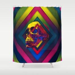 Lifeful Skull V2 Shower Curtain