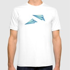 High Flyer | Origami | Simplified Mens Fitted Tee White MEDIUM