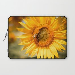 Sunflower with a Bee Laptop Sleeve