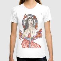 mucha T-shirts featuring Mucha à la Baton Rouge by Aida Avila