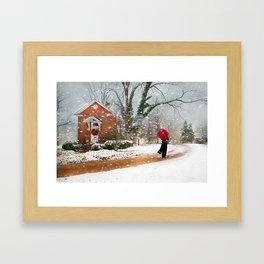 The Winter Cottage Framed Art Print