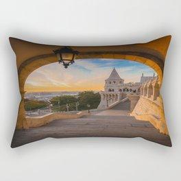 Fisherman's Bastion in Budapest, Hungary Rectangular Pillow