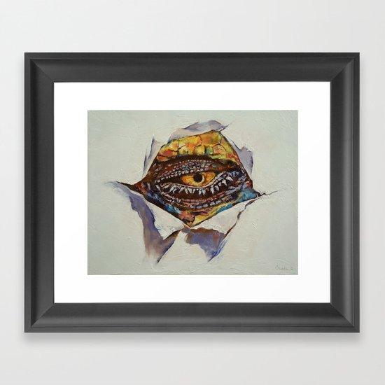 Dragon Eye Framed Art Print