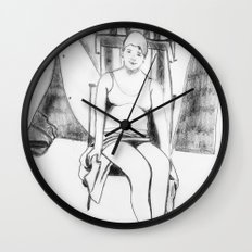 Bather with cap Wall Clock