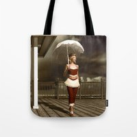 scandal Tote Bags featuring The victorian scandal by Britta Glodde