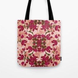 Retro Vintage Floral Motif Tote Bag