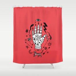 Spiritual Hand Shower Curtain