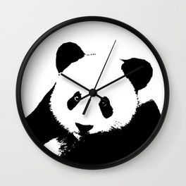 Giant Panda in Black & White Wall Clock